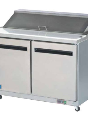 "Arctic Air Mega Top AMT48R 48"" Refrigerated Sandwich / Salad Prep Table with Two Doors"